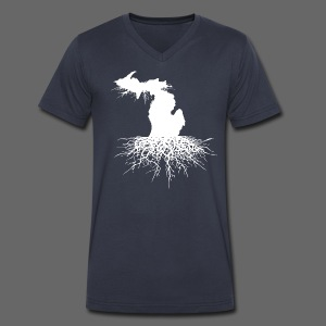 Michigan Roots - Men's V-Neck T-Shirt by Canvas