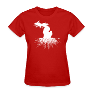 T-Shirts ~ Women's T-Shirt ~ Michigan Roots