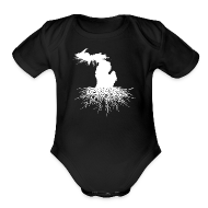 Baby Bodysuits ~ Baby Short Sleeve One Piece ~ Michigan Roots