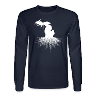 Long Sleeve Shirts ~ Men's Long Sleeve T-Shirt ~ Michigan Roots