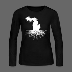 Michigan Roots - Women's Long Sleeve Jersey T-Shirt