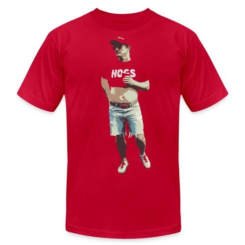 Hogs Guy - Red - American Apparel - Men's Fine Jersey T-Shirt