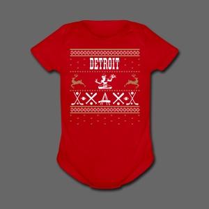 Detroit Ugly Sweater - Short Sleeve Baby Bodysuit