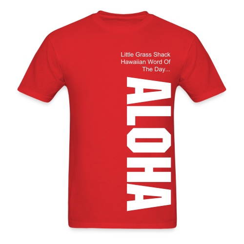 LGS Hawaiian Word: ALOHA - red - Men's T-Shirt