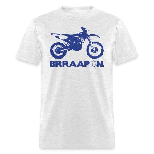 WRF BRRAAP ON - Blue Logo Front - Men's T-Shirt
