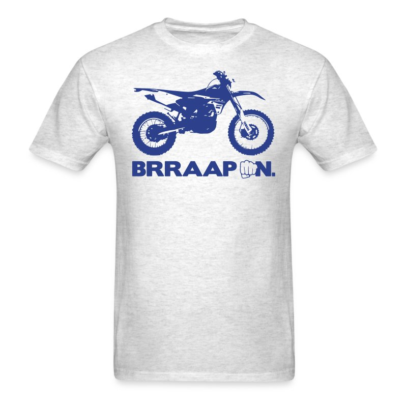 WRF BRRAAP ON - Blue Logo Front - Men's T-Shirt