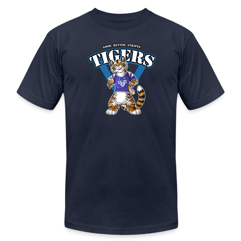 Team TIGERS - Blue - Men's T-Shirt by American Apparel