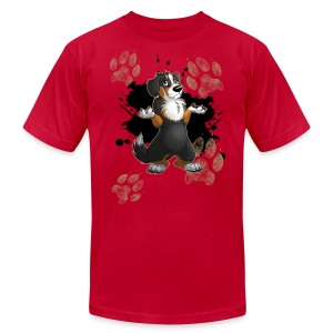 Muddy Paws - Men's T-Shirt by American Apparel