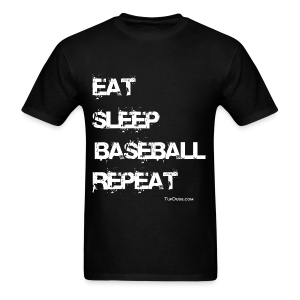 Eat Sleep Baseball Repeat - wb - TD - TD-00014 - Men's T-Shirt