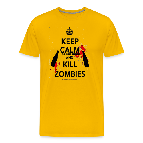 Keep Calm Drink Beer And Kill Zombies Men's Premium T-Shirt  - Men's Premium T-Shirt