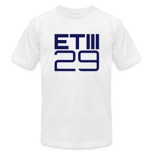 Slim Fit ETIII 29 (White/Navy) - Men's T-Shirt by American Apparel
