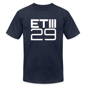 Slim Fit ETIII 29 (Navy/White) - Men's T-Shirt by American Apparel