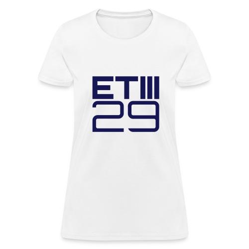 Easy Fit ETIII 29 (White/Navy) - Women's T-Shirt
