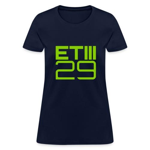 Easy Fit ETIII 29 (Navy/Green) - Women's T-Shirt