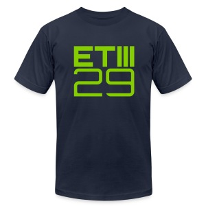 Slim Fit ETIII 29 (Navy/Green) - Men's T-Shirt by American Apparel