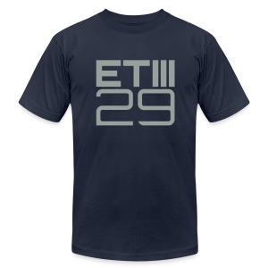 Slim Fit ETIII 29 (Navy/Gray) - Men's T-Shirt by American Apparel
