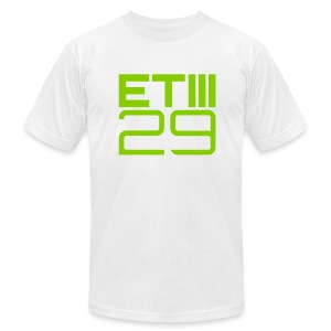 Slim Fit ETIII 29 (White/Green) - Men's T-Shirt by American Apparel