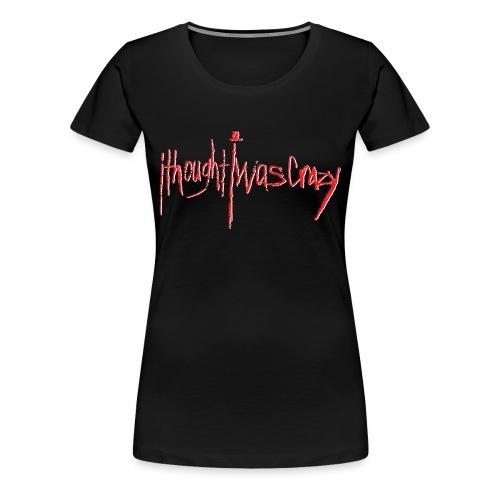 Women's New Crazy Red Logo Premium T-Shirt - Women's Premium T-Shirt