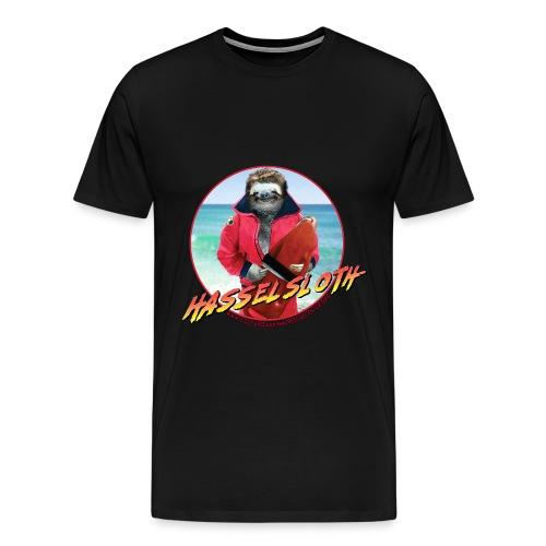 DON'T HASSEL THE SLOTH - Guys Tee - Men's Premium T-Shirt