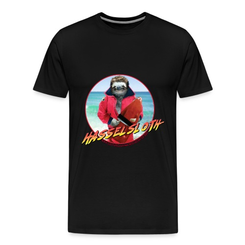 DON'T HASSEL THE SLOTH - Guys Tee - Men's Premium T-Shirt