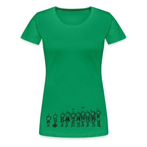 Girls Growing Up (by Kenzie) - Women's Premium T-Shirt