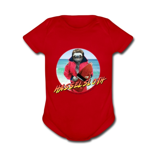 DON'T HASSEL THE BABY SLOTH - Organic Short Sleeve Baby Bodysuit