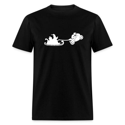 Santa is motorbiker - Men's T-Shirt