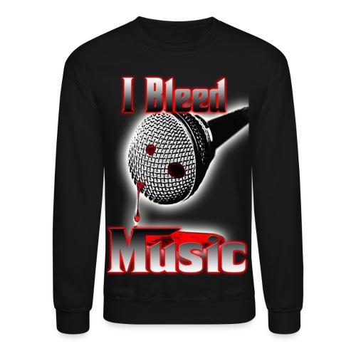 Men's Crewneck Sweatshirt - I Bleed Music - Crewneck Sweatshirt