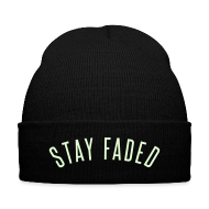 Caps ~ Knit Cap with Cuff Print ~ Stay Faded - Glow in the Dark