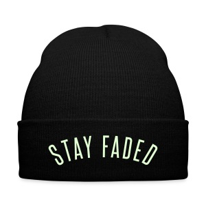 Stay Faded - Glow in the Dark - Knit Cap with Cuff Print