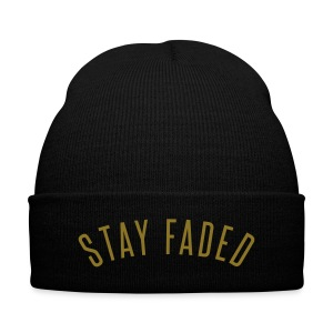Stay Faded - Metallic Gold - Knit Cap with Cuff Print