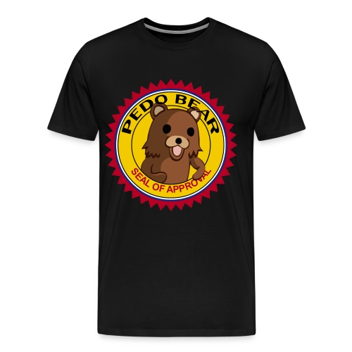 Pedobear seal of approval men shirt - Men's Premium T-Shirt