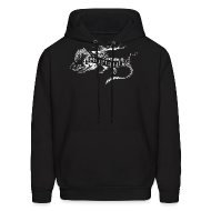 Hoodies ~ Men's Hoodie ~ New Shur'tugal Logo (WHITE Ink - Unisex)
