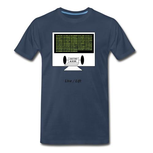 Binary Message to Fit Shamers - Men's Premium T-Shirt