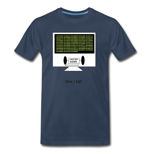 Binary Message to Fit Shamers - Men's Premium T-Shirt