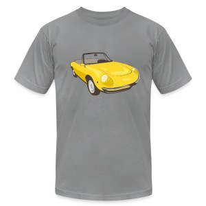 Yellow Alfa Romeo Spider illustration - Men's T-Shirt by American Apparel
