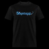 T-Shirts ~ Men's T-Shirt ~ Original Shur'tugal Logo (Blue Ink - Unisex)