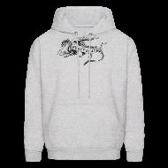 Hoodies ~ Men's Hoodie ~ New Shur'tugal Logo (BLACK Ink - Unisex)