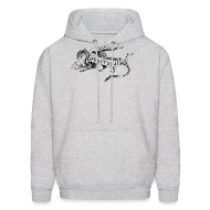 Hoodies ~ Men's Hoodie ~ New Shur'tugal Logo (BLACK Ink - Unisex)