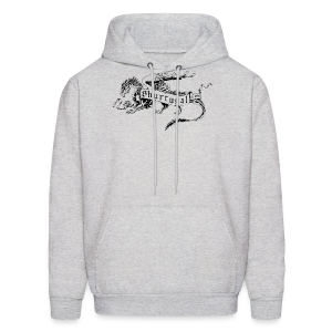 New Shur'tugal Logo (BLACK Ink - Unisex) - Men's Hoodie