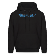 Hoodies ~ Men's Hoodie ~ Original Shur'tugal Logo (BLUE Ink - Unisex)