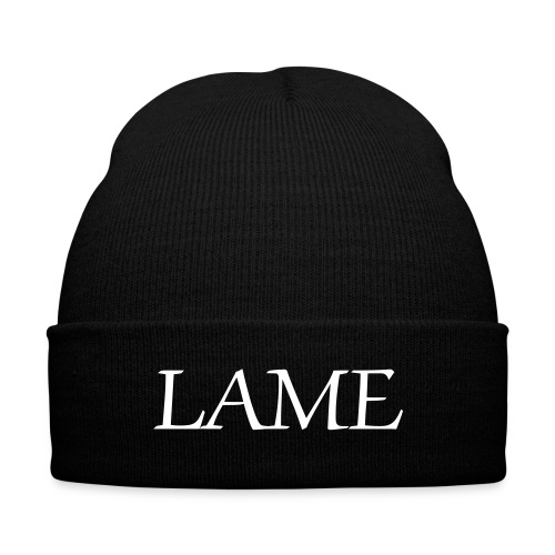 LAME - Knit Cap with Cuff Print