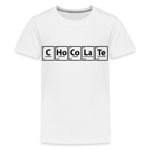 The Periodic table of CHOCOLATE - Kids' Premium T-Shirt