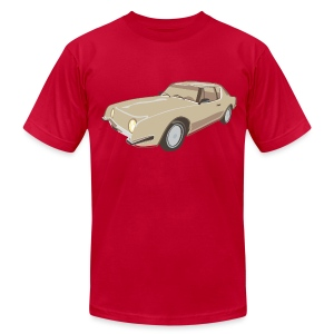 Gold Studebaker Avanti illustration - Men's T-Shirt by American Apparel