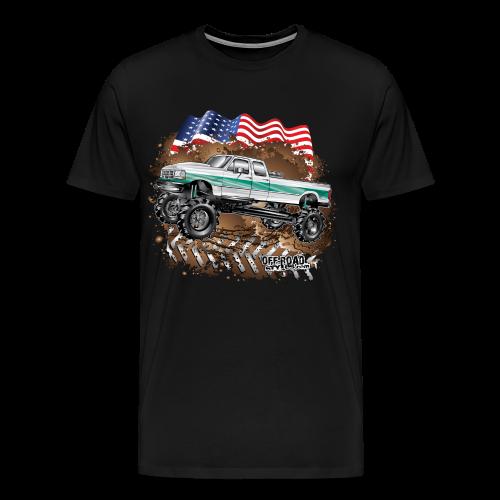 Ford F350 Mud Truck - Men's Premium T-Shirt