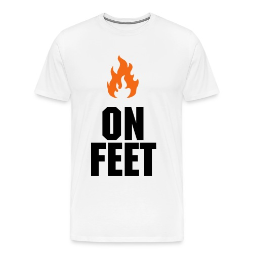 HEAT ON FEET TEE  - Men's Premium T-Shirt