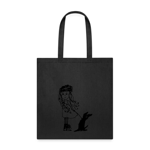 Girl with Dog Bag (by Kenzie) - Tote Bag
