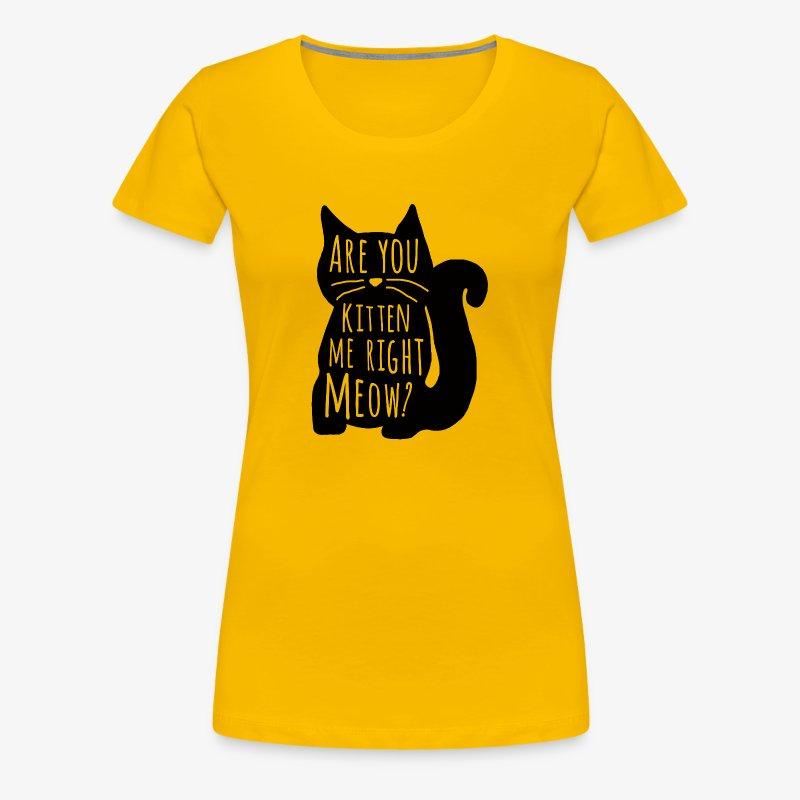 Are You Kitten Me Right Meow - Women's Premium T-Shirt