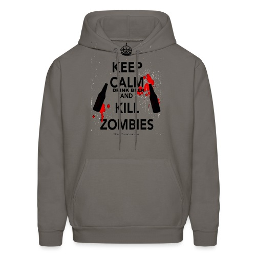 Keep Calm Drink Beer And Kill Zombies Men's Hooded Sweatshirt - Men's Hoodie