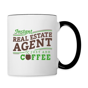Instant Agent - Just Add Coffee contrast left - Contrast Coffee Mug